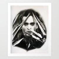 edward scissorhands Art Prints featuring Edward Scissorhands by Whitney Wilkinson