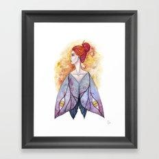 Moth wings Framed Art Print