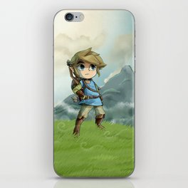 "Toon Link in ""Breath of the Wild"" iPhone Skin"