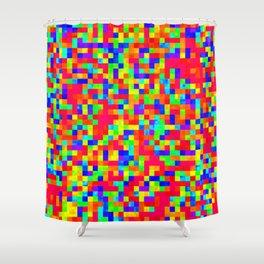 Chromoscope IV ][ Revert Future Raster Shower Curtain