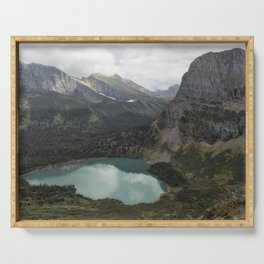 Grinnell Lake from the Trail No. 2 - Glacier NP Serving Tray