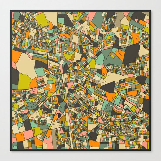 LUSAKA MAP Canvas Print