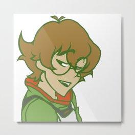 Green Outlined Pidge - Voltron Legendary Defender Metal Print