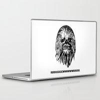 chewbacca Laptop & iPad Skins featuring Chewbacca by C Liza B