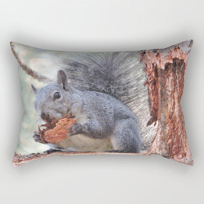 Squirrel Snack Rectangular Pillow