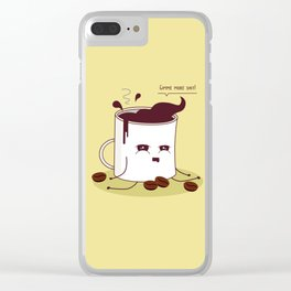 Coffee Mug Addicted To Coffee Clear iPhone Case