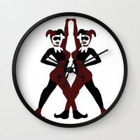 harley Wall Clocks featuring Harley by Jajowi