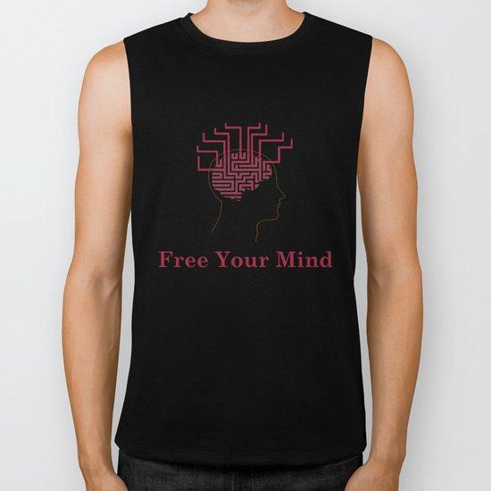 free your mind Biker Tank