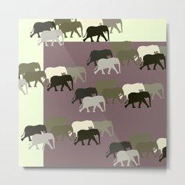 Herd of Elephants No.1 Metal Print
