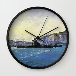 Monitors, Dover Harbour - Digital Remastered Edition Wall Clock