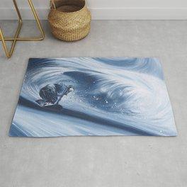 'Snowboarding Blue Blower' Rug