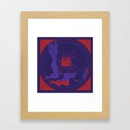Salt Circle Framed Art Print