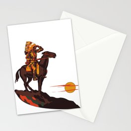 Native American Sunset Stationery Cards