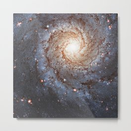 Messier 74,  NGC 628 Spiral galaxy in the constellation Pisces Metal Print
