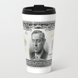 Highly EXCLUSIVE Replica 1934 - 100,000 GOLD CERTIFICATE Bank Note Travel Mug
