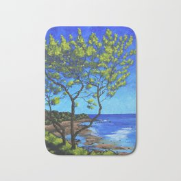 The Bluff on Cape Cod - by Mike Kraus - art trees beach atlantic ocean water vacation swimming waves Bath Mat