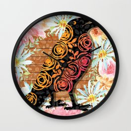 M is for Murder - Holy Crow Wall Clock