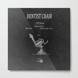 Dentist Chair Patent 2 Metal Print