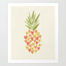 My Pineapple Valentine Art Print