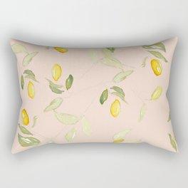 Watercolor Kumquat Peach Background Rectangular Pillow