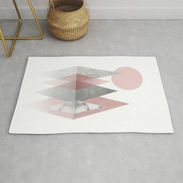 Raspberry Frost Mountains Rug