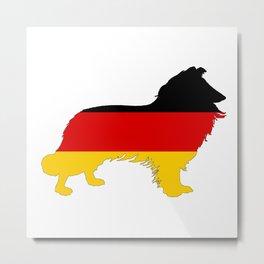 German Flag - Border Collie Metal Print