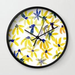 Blue Eyed Susan Wall Clock