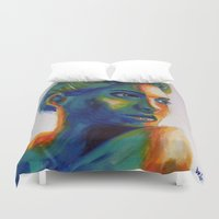 angelina jolie Duvet Covers featuring Angelina by ArtLm