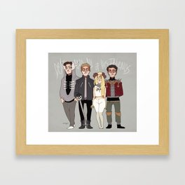 Death And All of His Friends Framed Art Print