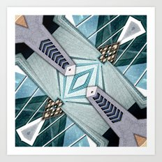 City Buildings Abstract 3 Art Print