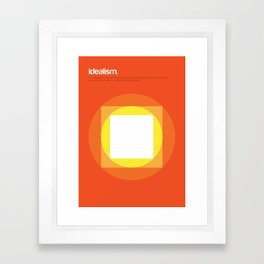 Idealism Framed Art Print