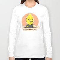 lemongrab Long Sleeve T-shirts featuring earl of lemongrab by Tiffany Willis