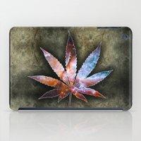 marijuana iPad Cases featuring Marijuana Leaf - Design 2 by Spooky Dooky