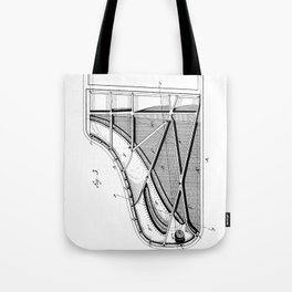 Steinway Piano Patent - Piano Player Art - Black And White Tote Bag