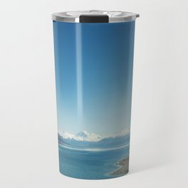 Blue & snowy landscape Travel Mug
