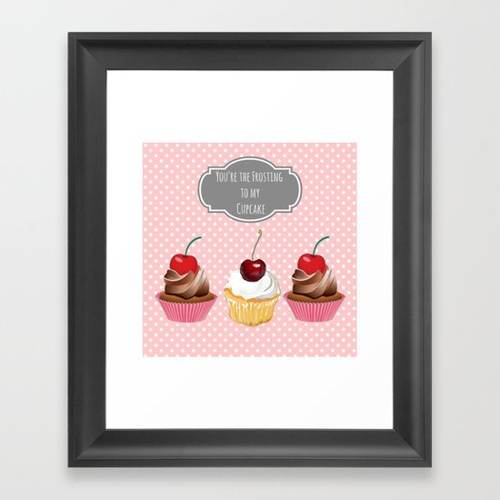 Frosting Framed Art Print