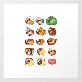 Puglie Food Collection 1 Art Print