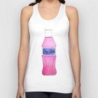 coke Tank Tops featuring Pink Coke by Shellsea Art