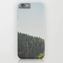 above the tree line in the Santa Fe National Forrest iPhone Case