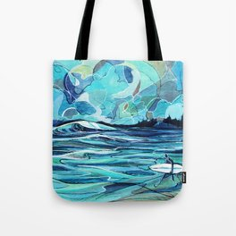 Surf Check Tote Bag