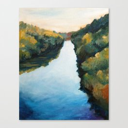 River and Forest in Fall Canvas Print