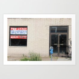 For Lease in Baltimore Art Print