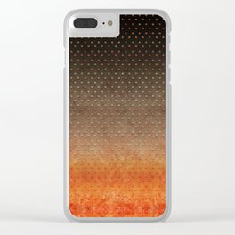 """Sabana Night Degraded Polka Dots"" Clear iPhone Case"
