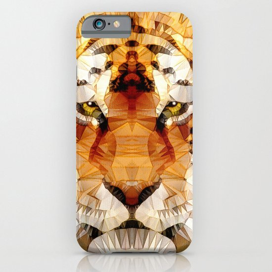 abstract tiger iPhone & iPod Case