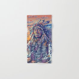 native american portrait-red cloud Hand & Bath Towel