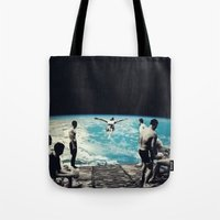 lsd Tote Bags featuring LSD SPACE  by Maioriz Home