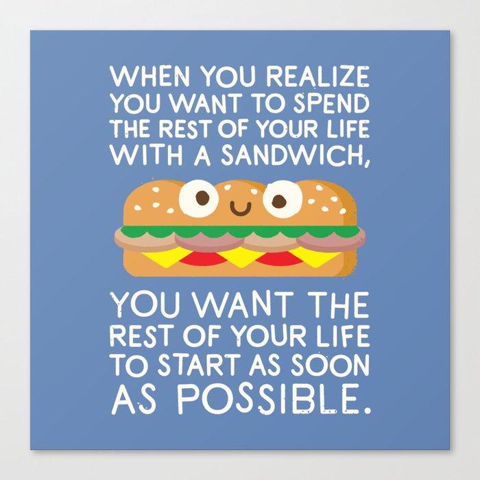 When Harry Met Sandwich Canvas Print