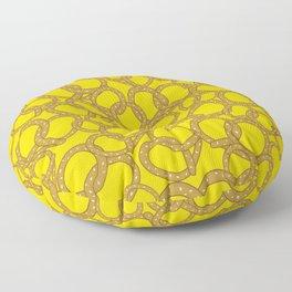 Pretzels With Mustard Floor Pillow