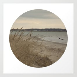Seaside Serenity Ocean Seaside Beach Neutral Fine Art Prints Gifts Art Print