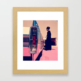 Pull Up To My Bumper Framed Art Print